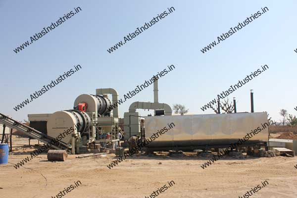double drum asphalt drum mix plant
