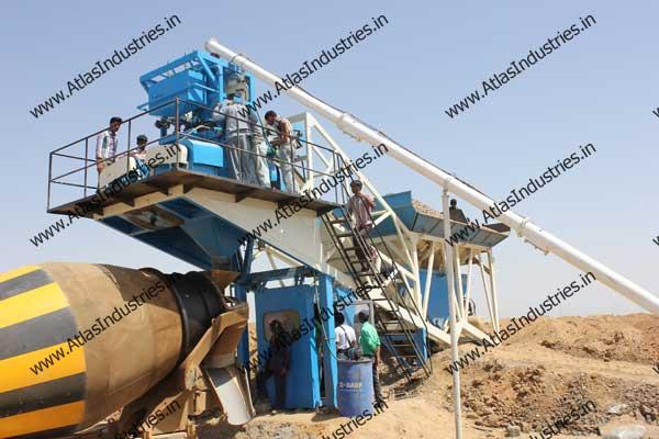 mobile concrete batch mix plants