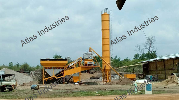 manufacturer and exporter 45 m3/hr. mobile concrete batching plant Myanmar