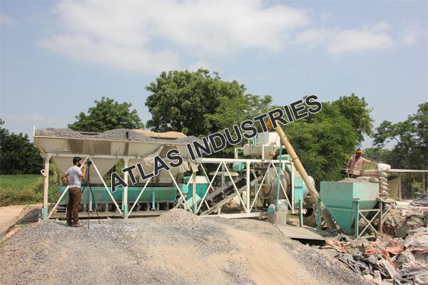 Portable concrete plant installed Mehsana