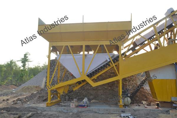 for sale 45 m3/hr. mobile concrete batching plant Myanmar