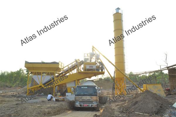 exporter 45 m3/hr. mobile concrete batching plant Myanmar