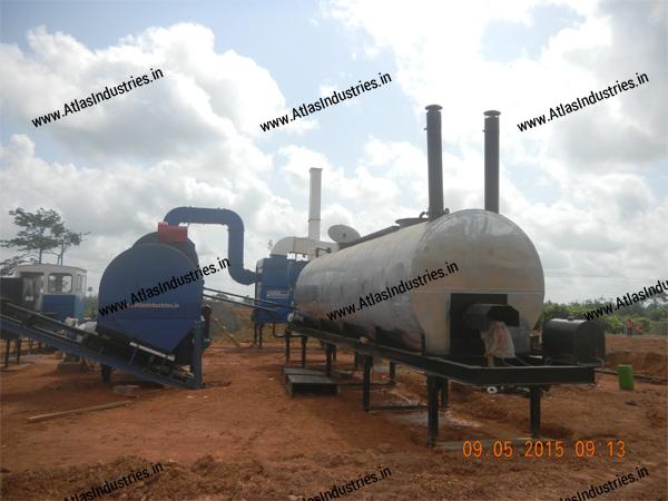Atlas counterflow asphalt plant India