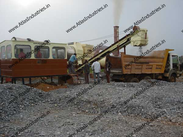 hot mix asphalt drum plant installed in Nigeria