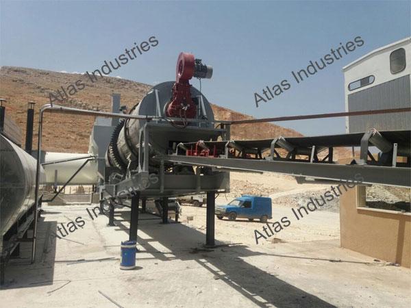 Asphalt drum mixer installed in Lebanon