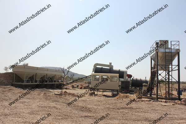 double drum type asphalt mixing plants