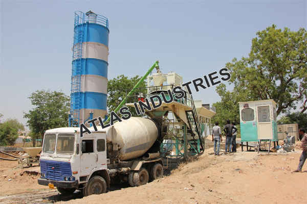 Mobile concrete mix plant installed in Chaapi, India