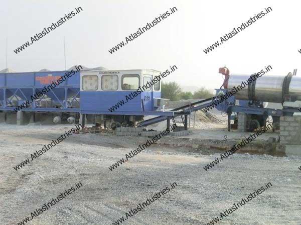 continuous asphalt mixing plant