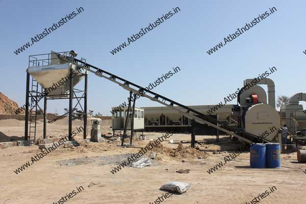 Indian exporter of double drum type asphalt mixing plants