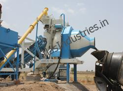 Portable concrete plant for small sites