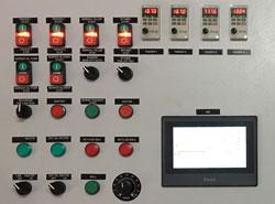 20-30 tph drum mix plant panel