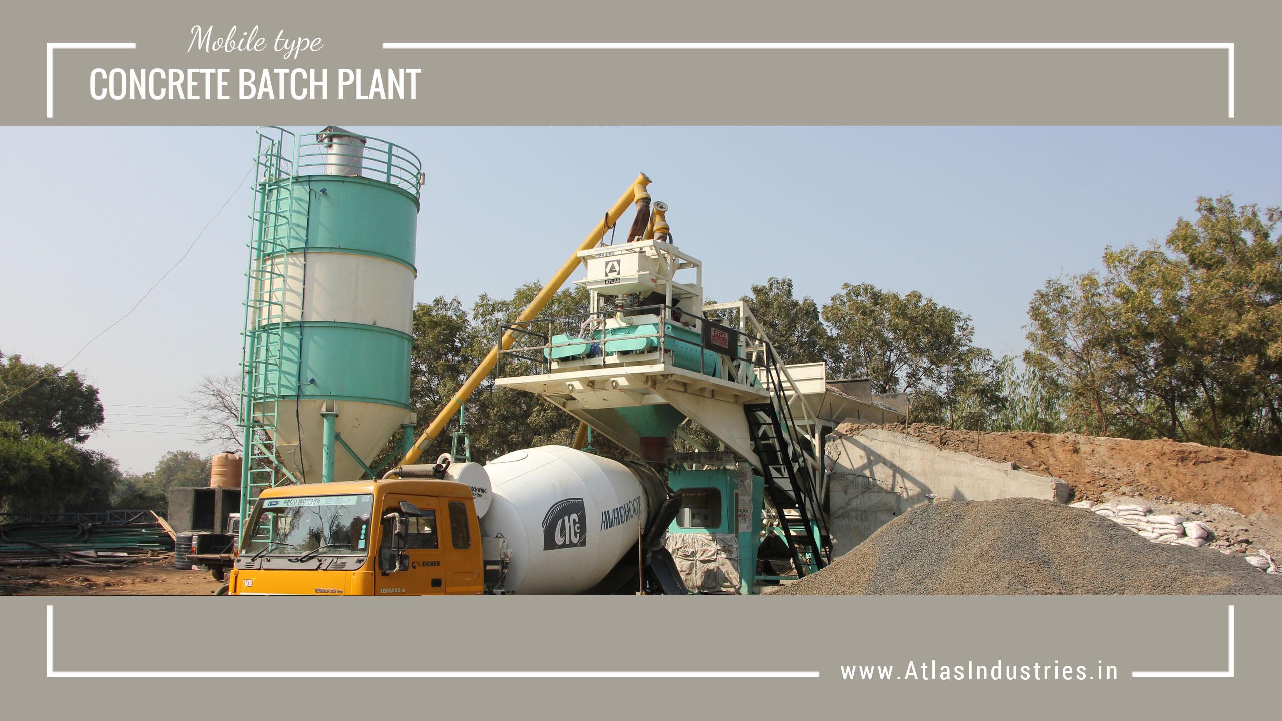 30 cum mobile concrete plant