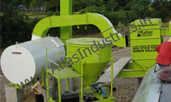 Pollution control device and lime filler