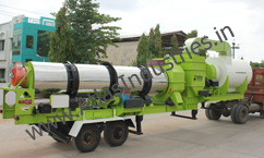 Mobile drying and mixing unit