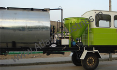 Mineral filler with bitumen tank