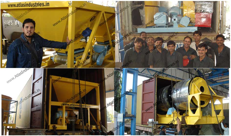Asphalt drum mix plant loading