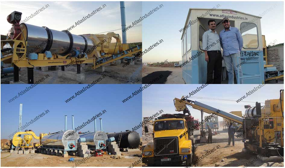 Asphalt drum plant installed in Morocco