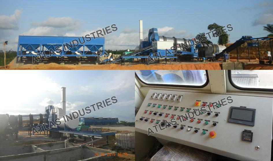 Mobile counterflow asphalt drum mix plant Ivory Coast