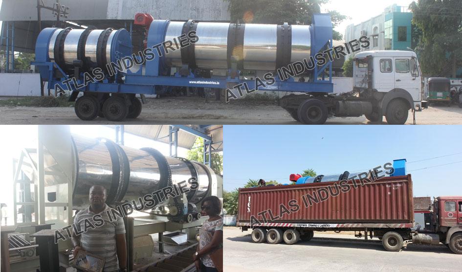 Portable counterflow asphalt mixer Ivory Coast